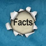Découvrez le symbole de faits Photographie stock libre de droits