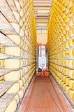 Découvrez le traitement de fromage image stock