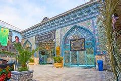 Découvrez les points de repère du bazar grand de Téhéran photo stock