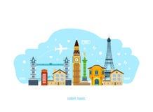 Découvrez les vues, la culture, les traditions, l'atmosphère, les environs, la ville et les rues illustration libre de droits