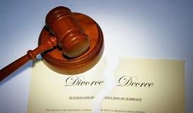 Décret de divorce Photo stock