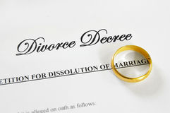 Décret de divorce Photographie stock libre de droits