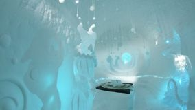 décrit à l'hôtel de glace en Suède photo libre de droits