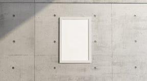 Décrivez accrocher sur un mur en béton, pièce Décorez un mur illustration stock