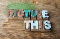 Décrivez ceci - concept composé en bois de mot Photo libre de droits