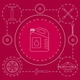 Décrivez les éléments de conception du service et du diagnostic de voiture Réparation de mécanicien automobile des machines Mécan Image stock