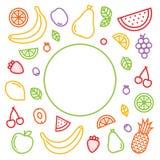 Décrivez les fruits graphiques de style et le fond de vecteur d'isolement par baies illustration de vecteur