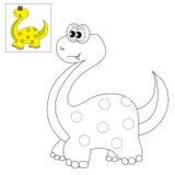 Décrivez pour colorer un dinosaure Images libres de droits