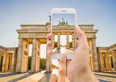Décrivez un Brandebourg à Berlin images libres de droits
