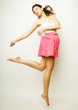 Décrivez une belle fille féerique de vol Photographie stock libre de droits