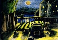 Décrivez une nuit de clair de lune Illustration Stock