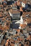 Fente, Croatie, vue aérienne de la place des personnes Images libres de droits
