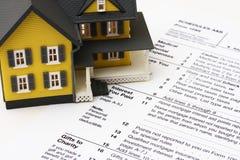 Déduction d'intérêt d'hypothèque Images stock