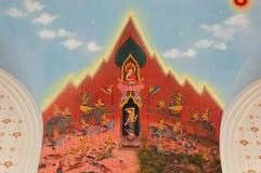 Déesse de la terre protégeant le Bouddha Photos stock