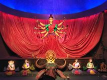 Déesse Durga, le symbole de la puissance de femmes photo libre de droits