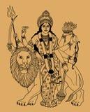 Déesse indienne illustration stock