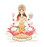 Déesse Laxmi Icon illustration de vecteur