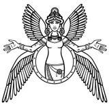 Déesse stylisée Ishtar illustration libre de droits