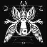 Déesse stylisée Ishtar illustration de vecteur
