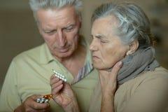 Défectuosité caucasienne pluse âgé de couples Image stock