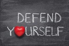 Défendez-vous coeur images libres de droits