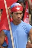 Défenseur communiste de la ligue de la jeunesse (YCL) du Népal Image stock