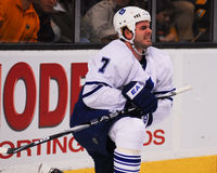 Défenseur d'Ian White Toronto Maple Leafs Photographie stock