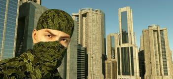 Défenseur de la ville Image libre de droits
