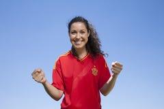 Défenseur espagnol heureux Image libre de droits