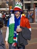 Défenseur italien du football - carte de travail 2010 de la FIFA Images libres de droits