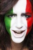 Défenseur italien heureux pour le plan rapproché 2014 de la FIFA Images stock