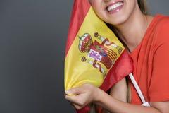 Défenseur ou fan espagnol Photographie stock
