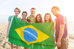 Défenseurs brésiliens Images stock