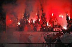 Défenseurs d'équipe de CFR Cluj dans l'action Images libres de droits