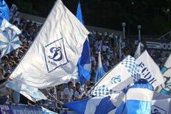 Défenseurs d'équipe de FC Dynamo Kiev Photographie stock libre de droits