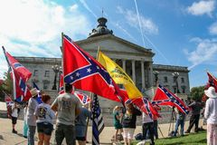 Défenseurs du drapeau confédéré photo stock