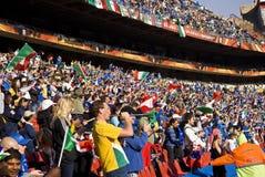 Défenseurs du football - carte de travail 2010 de la FIFA image libre de droits