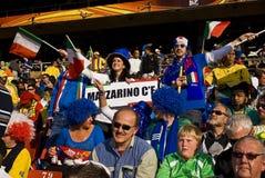 Défenseurs du football de l'Italie - carte de travail 2010 de la FIFA Images stock