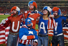 Défenseurs du football des Etats-Unis - carte de travail 2010 de la FIFA Photos stock