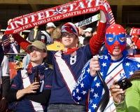 Défenseurs du football des Etats-Unis - carte de travail 2010 de la FIFA Images libres de droits