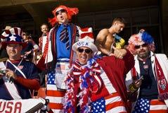 Défenseurs du football des Etats-Unis - carte de travail 2010 de la FIFA Image stock