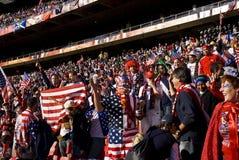 Défenseurs du football des Etats-Unis - carte de travail 2010 de la FIFA Photo libre de droits