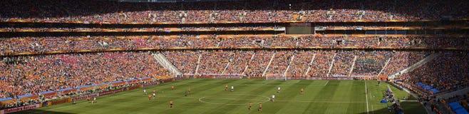 Défenseurs du football panoramiques - carte de travail 2010 de la FIFA Images libres de droits