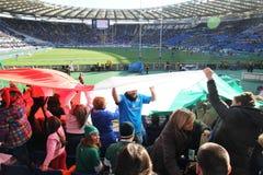 Défenseurs italiens de drapeau Images stock
