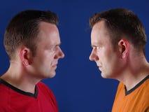 Défenseurs jumeaux de sport Photos libres de droits