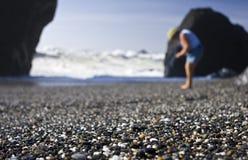 Déferlante trouble de plage Image stock