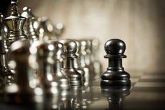 Défi d'échecs Photo stock