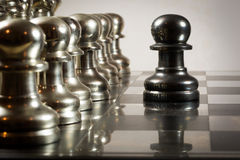 Défi d'échecs image libre de droits