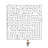Défi de manière de Labyrinth Choosing Path d'homme d'affaires illustration libre de droits