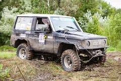 Défi 2016 de sanglier de RFC Ukraine Toyota LandCruiser Prado 70 Images stock